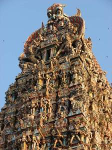 Meenakshi Amman, towers, sculpture