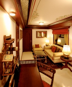 The living room of the Presidential Suite, pictured above, has no comparison to any other luxury train in the world in the level of elegance and comfort it offers its guests.