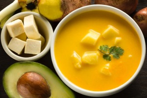 Locro de papa, a potato and cheese soup, is a staple of Ecuadorian cuisine. Now, you can enjoy it for yourself with this recipe!