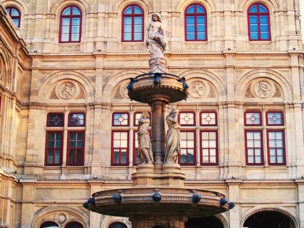Details of Viena Opera house, horizontal shot